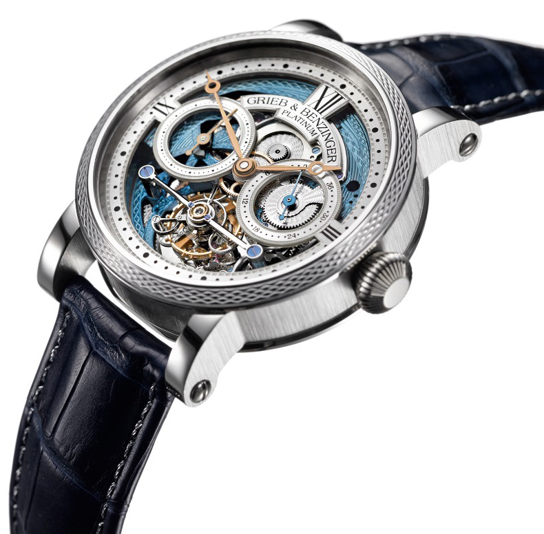 Grieb & Benzinger Blue Merit Tourbillon Watch
