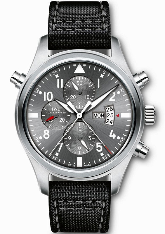 "IWC Pilot's Watch Double Chronograph Edition ""Patrouille Suisse"" Watch Front"