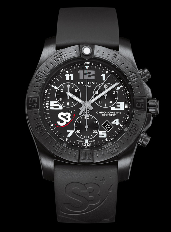 Breitling S3 ZeroG Chronograph Watch Front