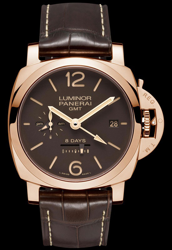 Panerai Luminor 1950 8 Days GMT Oro Rosso Watch