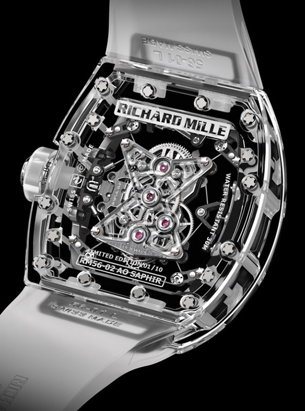 Richard Mille RM 56-02 Sapphire Tourbillon Watch Back