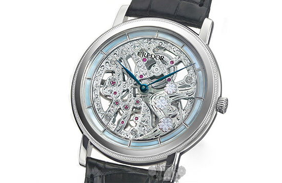 Seiko Credor 40th Anniversary Signo Cherry Blossoms Skeleton Watch Case