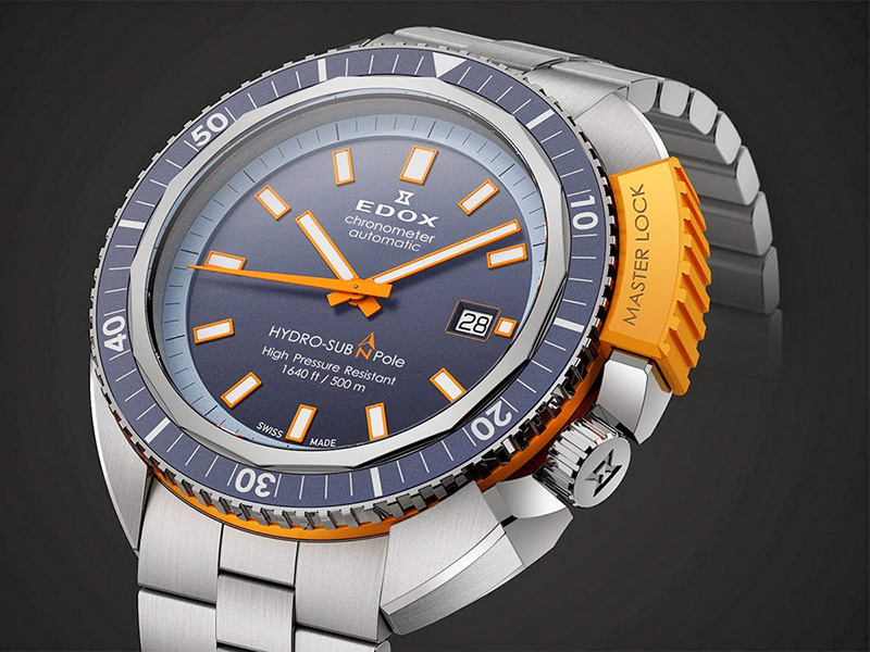 Edox Hydrosub North Pole Watch Dial