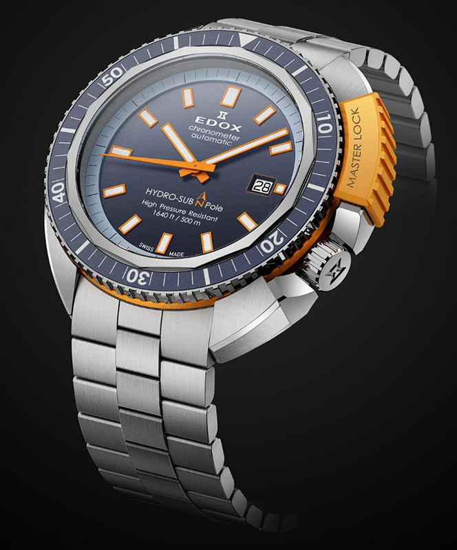 Edox Hydrosub North Pole Watch Front