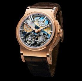 Hysek Verdict 46mm Double Tourbillon Sapphire Dial Watch