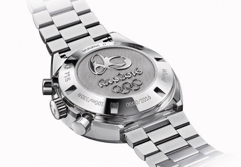 Omega Speedmaster Mark II Rio 2016 Watch Back