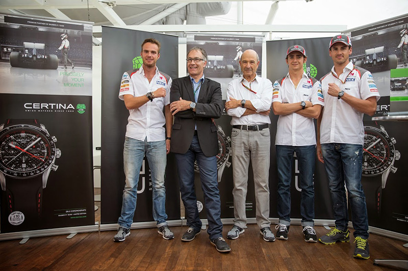 Certina and Sauber F1 Team 10 Anniversary Members