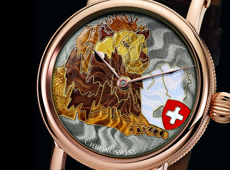Chronoswiss Sirius Lion Heart Watch Dial