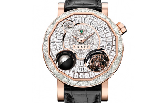 Graff MasterGraff GyroGraff Full Diamond Red Gold Watch