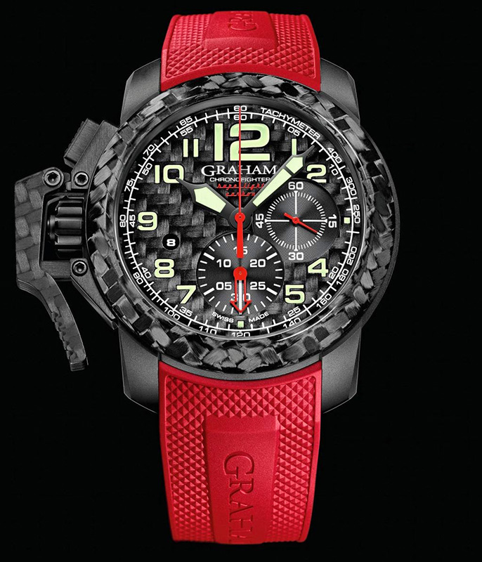 Graham Chronofighter Oversize Superlight Carbon Watch Front