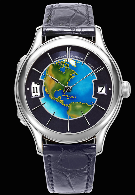 Laurent Ferrier Galet Traveller Cloisonné Enamel Dial Watch