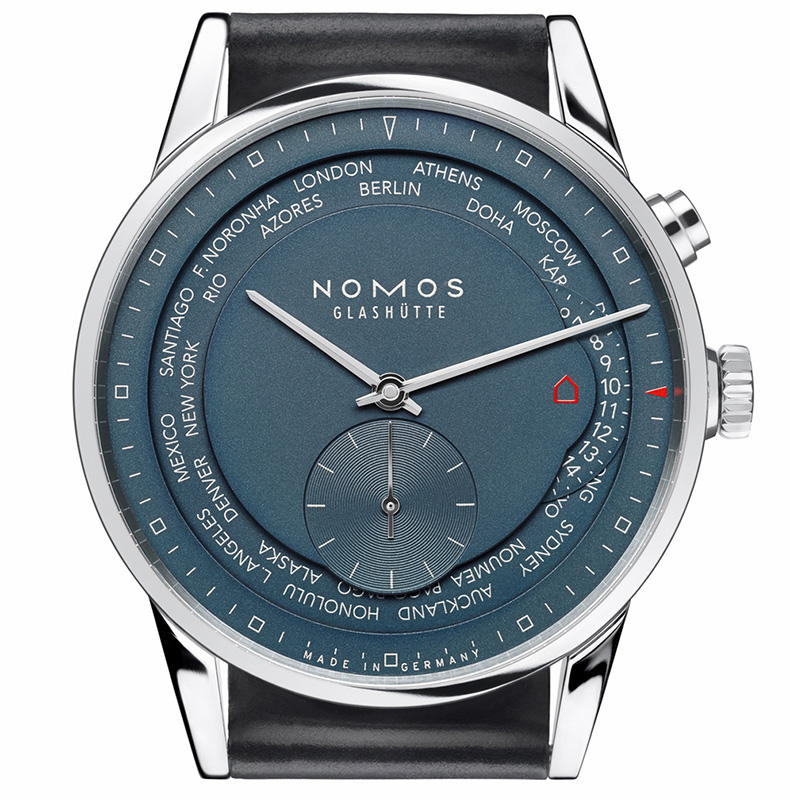 Nomos Zurich Worldtimer True Blue Watch Dial