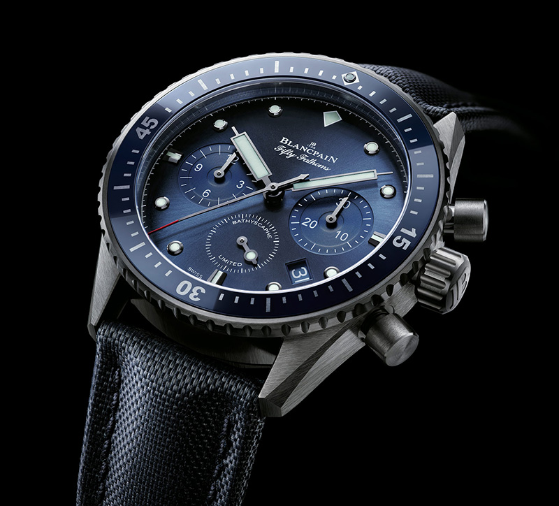 "Blancpain ""Ocean Commitment"" Bathyscaphe Chronograph Flyback Watch"