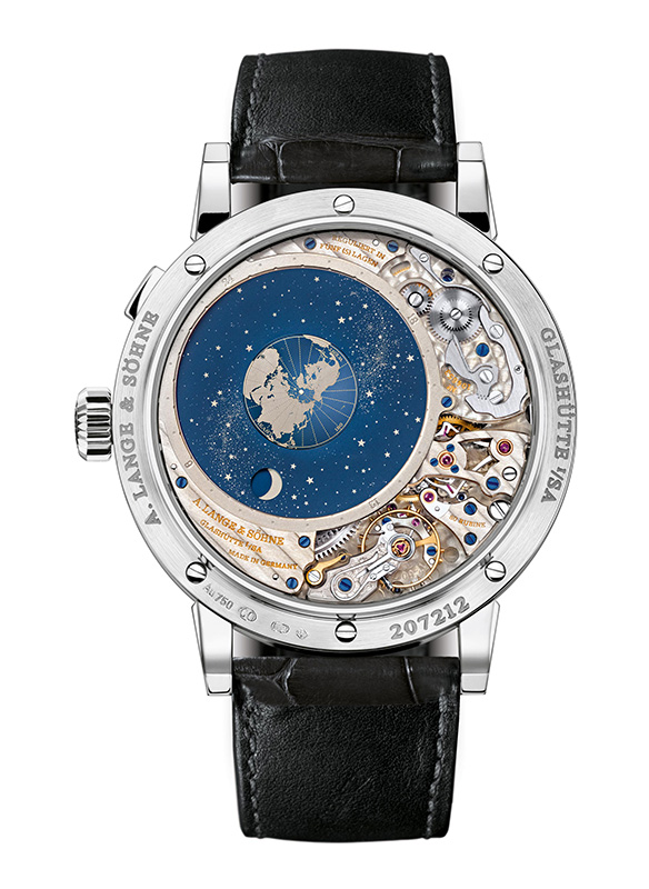 "A. Lange & Sohne Richard Lange Perpetual Calendar ""Terraluna"" White Gold Watch Back"