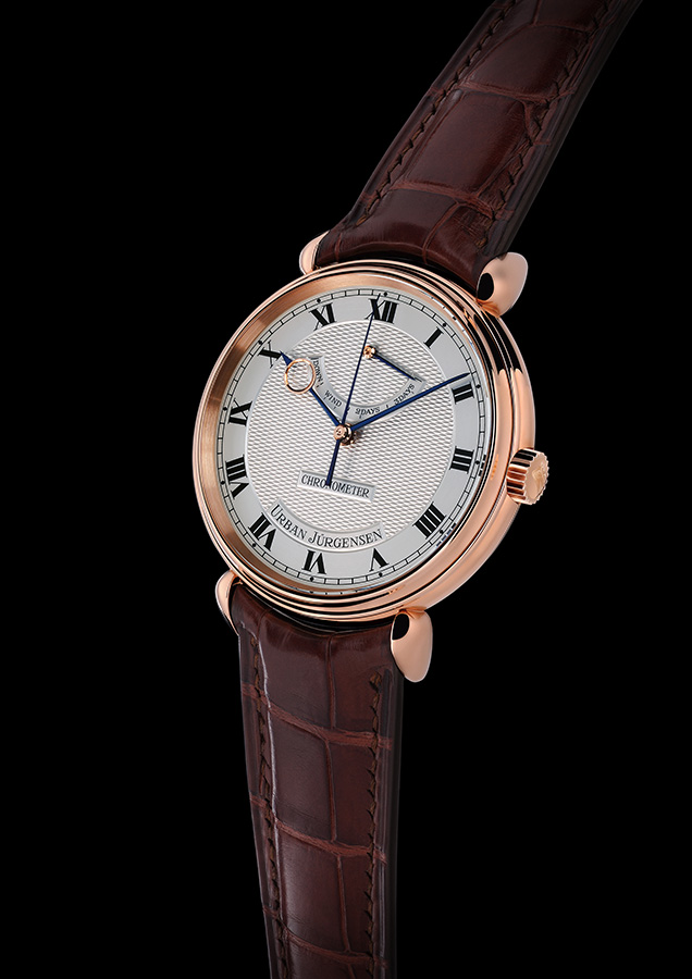 Urban Jurgensen & Sonner Central Second Red Gold Watch