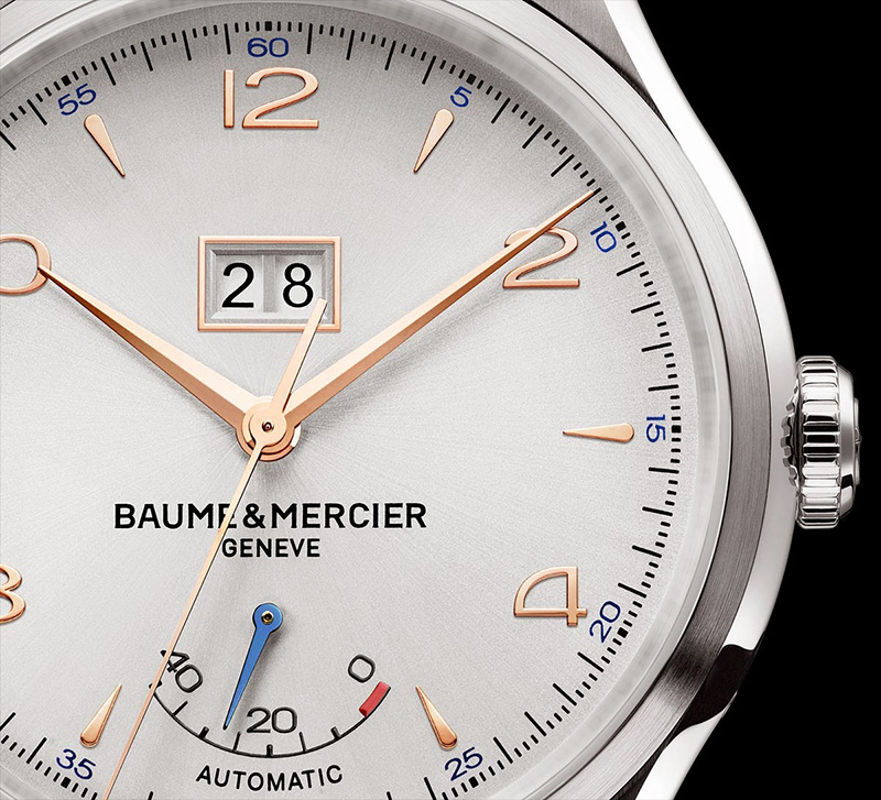 Baume & Mercier Clifton Automatic Big Date and Power Reserve Watch Dial