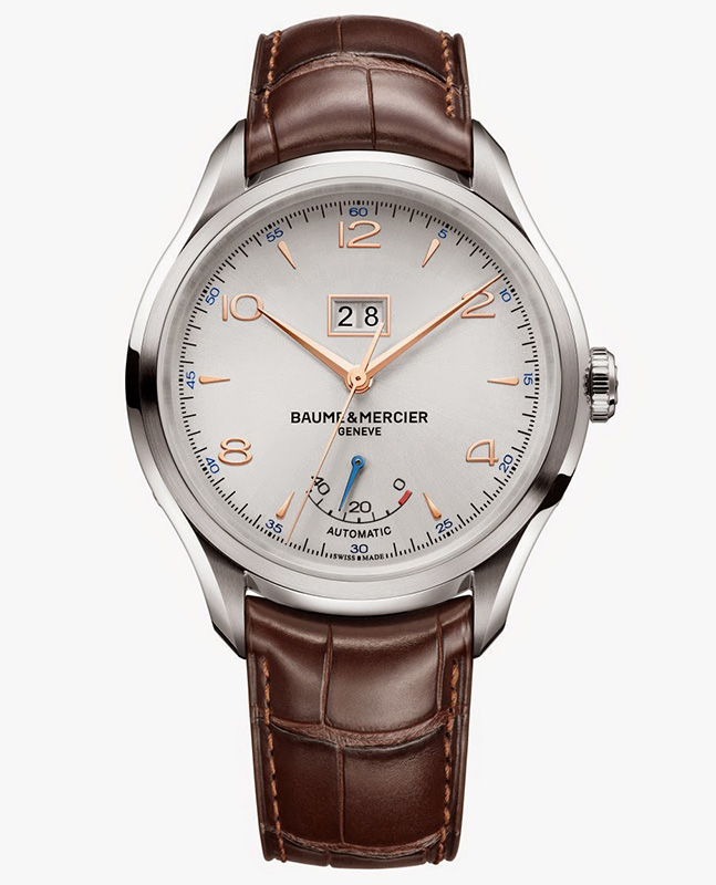 Baume & Mercier Clifton Automatic Big Date and Power Reserve Watch Front