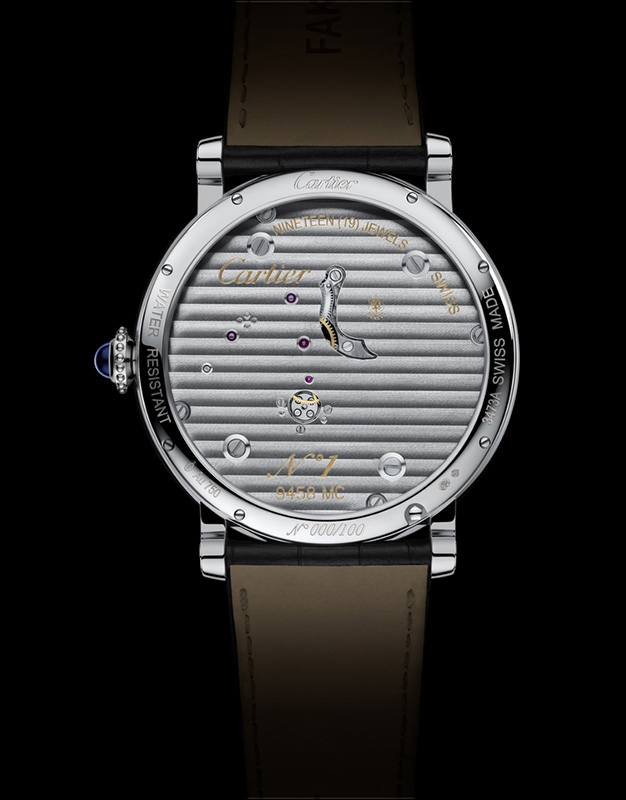 Cartier Rotonde de Cartier Reversed Tourbillon Watch Back