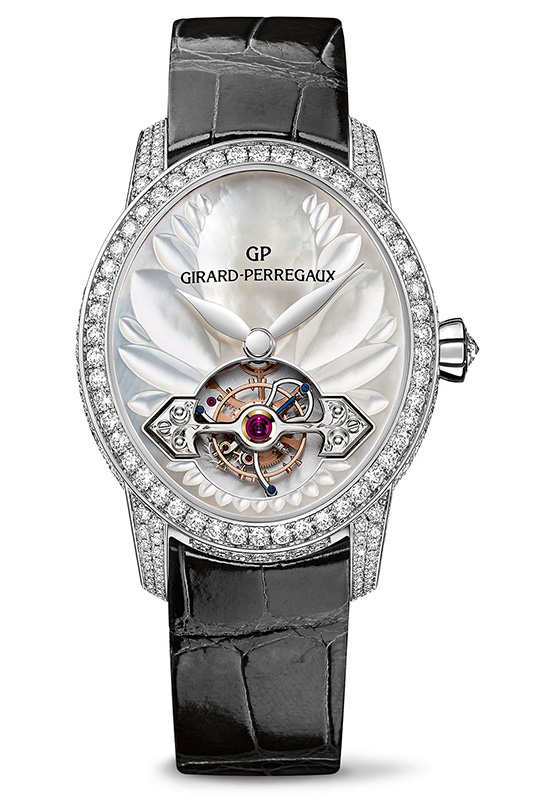 Girard-Perregaux Cat's Eye Tourbillon with Gold Bridge Black Strap Watch