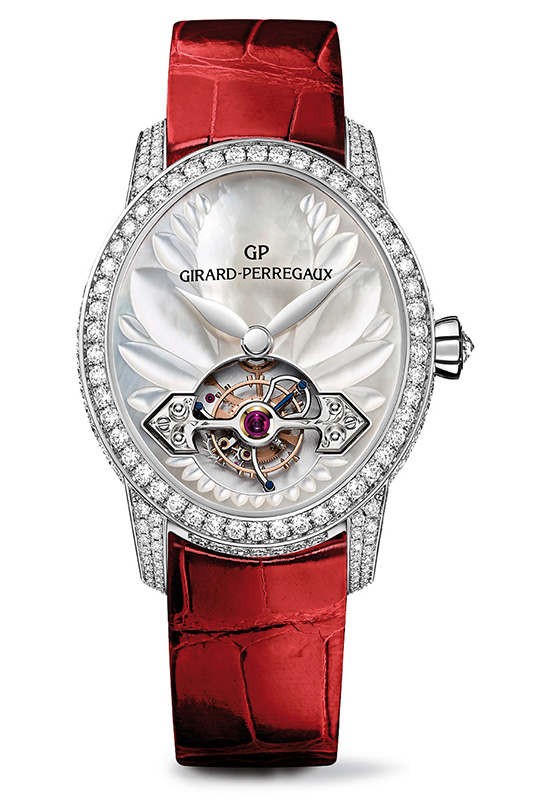 Girard-Perregaux Cat's Eye Tourbillon with Gold Bridge Red Strap Watch