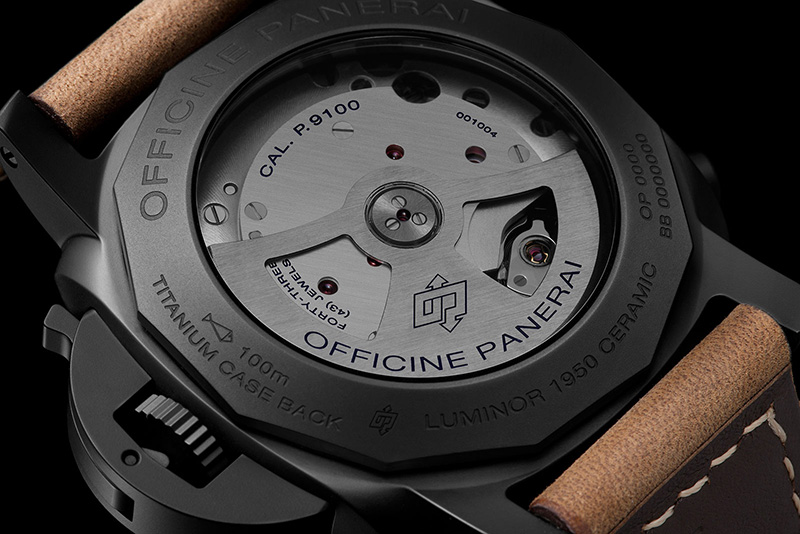 Panerai Luminor 1950 3 Days Chrono Flyback Automatic Ceramica Watch Back