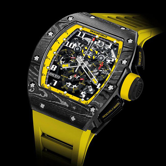 Richard Mille RM 011 Yellow Storm Watch