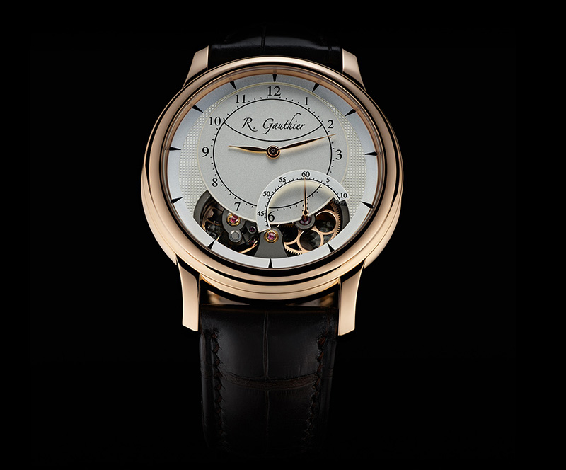Romain Gauthier Prestige HMS Ten Red Gold Champagne Watch