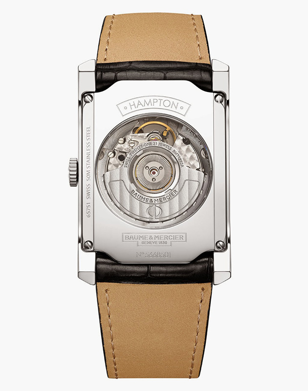 Baume & Mercier Hampton Automatic Watch Back