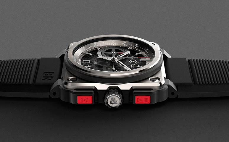 Bell & Ross Aviation BR-X1 Chronographe Watch Side