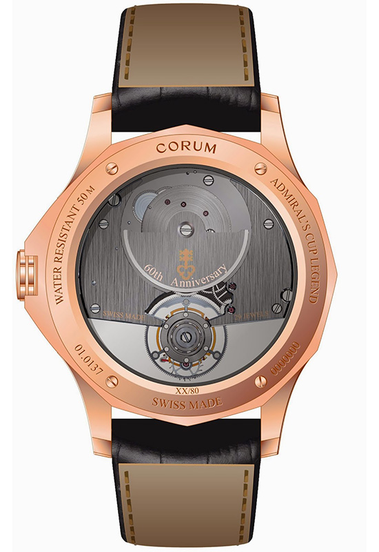 Corum Admiral's Cup Legend 42 Flying Tourbillon Watch Case Back