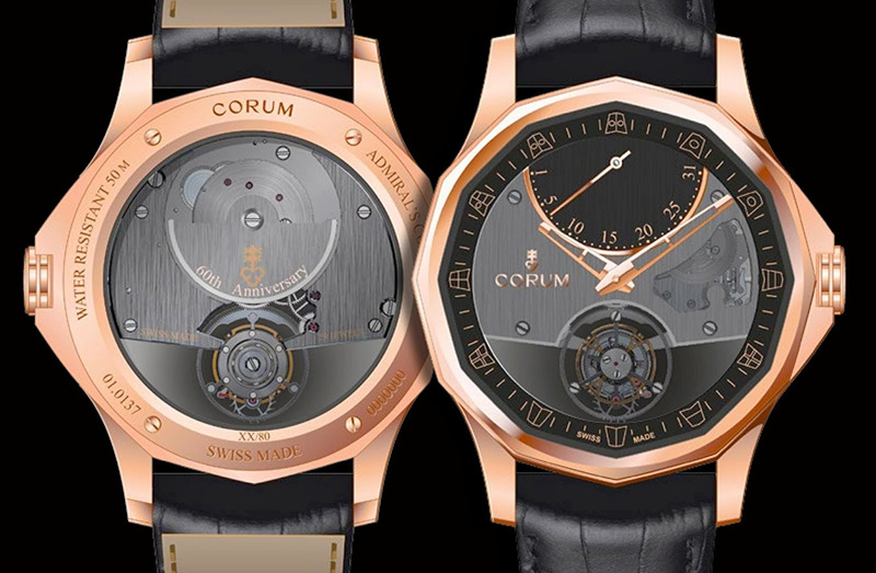 Corum Admiral's Cup Legend 42 Flying Tourbillon Watch Case