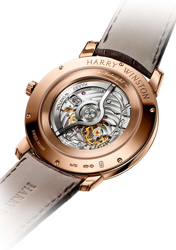 Harry Winston Midnight Feathers Automatic 42mm Watch Case Back
