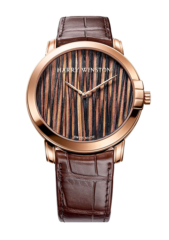 Harry Winston Midnight Feathers Automatic 42mm Watch Front