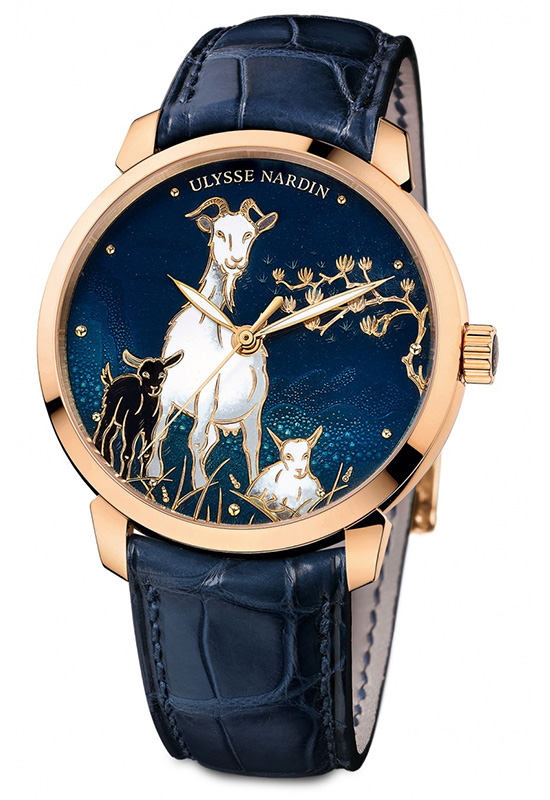 Ulysse Nardin Classico Goat Watch Front