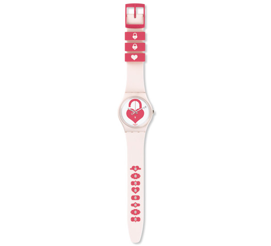 Swatch Saint Valentine 2015 Unlock My Heart Watch Front