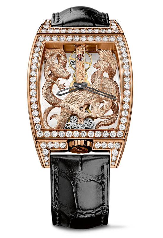Corum Golden Bridge Dragon & Phoenix Diamond Case Watch