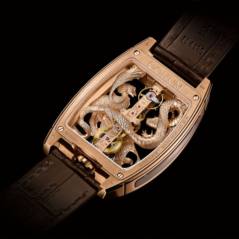 Corum Golden Bridge Dragon & Phoenix Watch Back