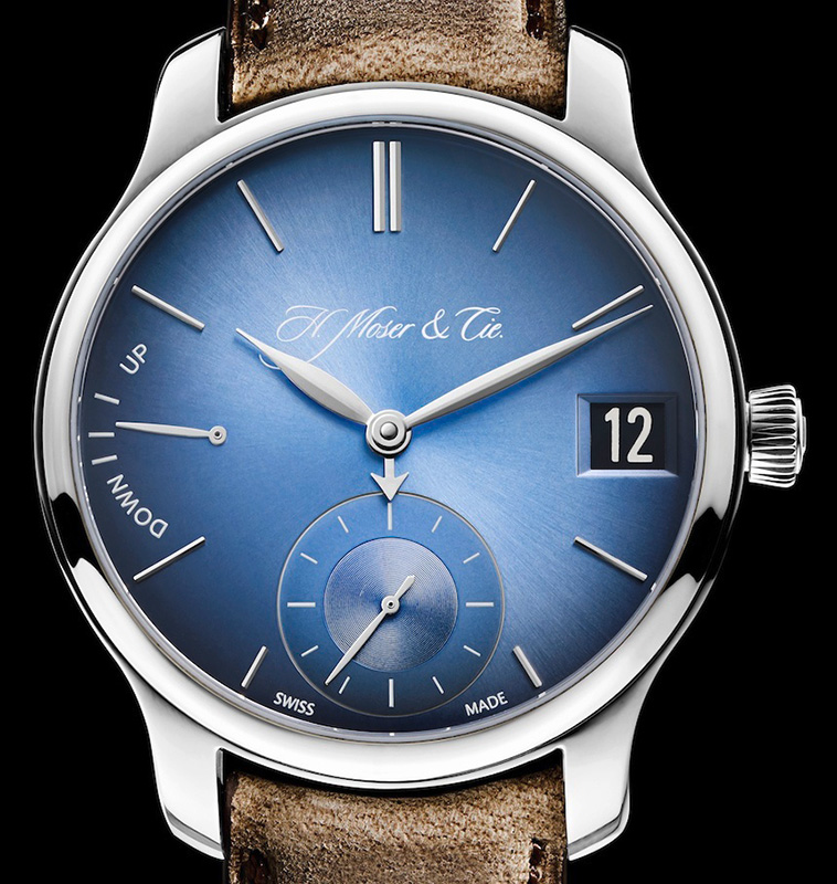 H. Moser & Cie Endeavour Perpetual Calendar Funky Blue Watch Dial