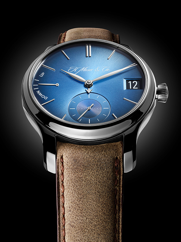 H. Moser & Cie Endeavour Perpetual Calendar Funky Blue Watch Front