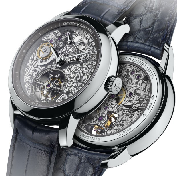 Vacheron Constantin Metiers d'Art Mechaniques Gravees 14-Day Tourbillon Watch
