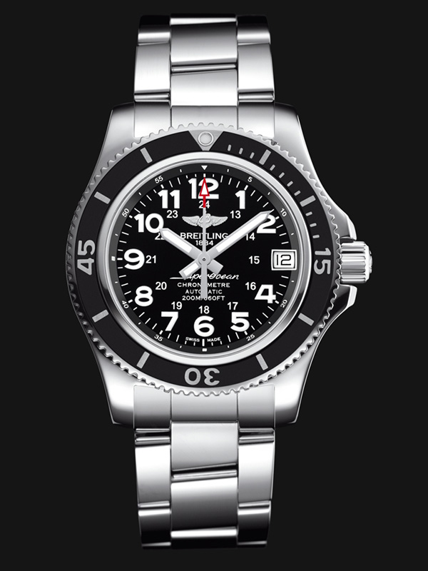 Breitling Superocean II 36 Watch Black Dial